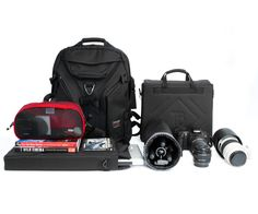 The perfect set up for a traveling photographer and all of the bags have a lifetime guarantee!
