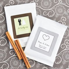 Personalized Theme Hot Apple Cider Favors from Wedding Favors Unlimited