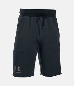 Men's UA Sportstyle Terry Fleece Shorts, Asphalt Heather, zoomed image