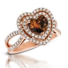 LeVian Chocolate diamond ring. My favorite collection for chocolate and champagne diamonds plus they have so many rings in rose gold which I love.