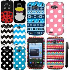 For ZTE Savvy Z750C Design PATTERN HARD Case Cover Phone Accessory + Pen #UnbrandedGeneric