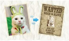 Wanted Poster : crea un fotomontaggio
