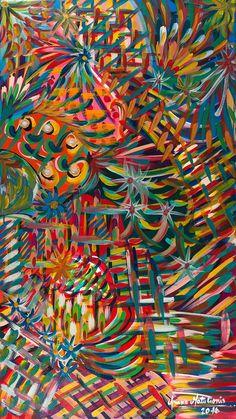Cuba libre - cuadro abstracto @arianamatulionis