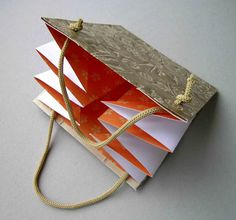 Directions for gift bag and pocket fold book