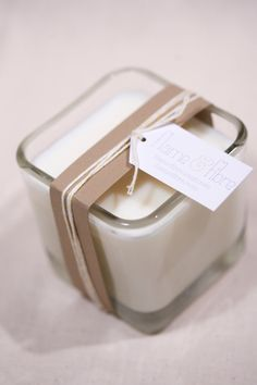 Orange Blossom Vanilla scented soy candle in 12 oz by flamefibre, $16.00