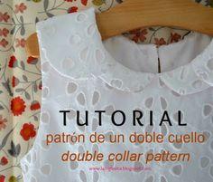 la inglesita: tutorial para trazar un doble cuello :: double collar tutorial