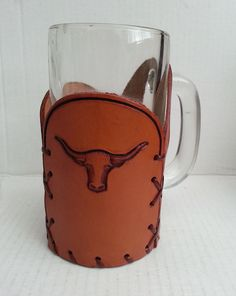 Glass #beer mug in leather cover (NEW) vintage collectible visit our ebay store at  http://stores.ebay.com/esquirestore