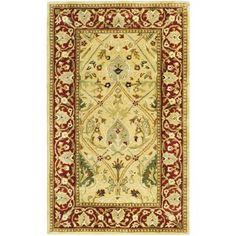 "Astoria Grand Empress Ivory/Rust Area Rug Rug Size: 9'6"" x 13'6"""