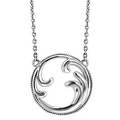 #750147. Sterling Silver swirl design pendant with an oxidized adjustable chain.  Contact us for more information @ http://carmouchejewelerslaplace.com/