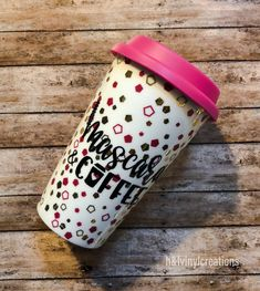 Excited to share the latest addition to my #etsy shop: Mascara and coffee Ceramic mug  Ceramic travel mug  Ceramic mug handmade  Ceramic mug with lid  Ceramic mug no handle  Ceramic mug  https://etsy.me/2qpECYW #housewares #christmas #ceramicmugwithlid #ceramicmugscust