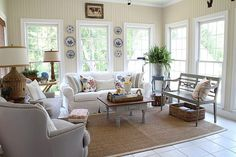 A sunroom enhancement to your home looks like a mix in between a yard patio area along with a living-room. The greatest sunroom formats bring the outdoors in and permit you to get . My Living Room, Living Area, Living Spaces, Sunroom Furniture, Outdoor Furniture Sets, Furniture Vintage, Furniture Layout, Furniture Arrangement, White Furniture