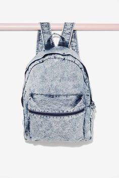 Bayside Acid Wash Backpack - Grunge