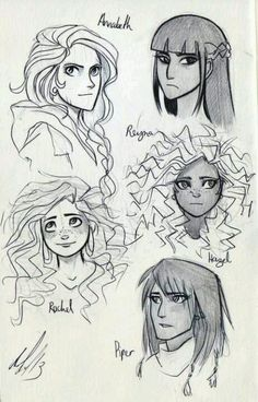 The girls of the Percy Jackson series!