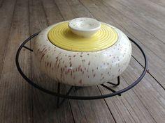 Mid Century Ceramic Dish 1950s Chaffing Server by StylishPiggy