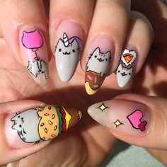 """""""@Pusheen is everything I want, everything I want to be, and now everything on my nails @vanityprojectsmia! Book appointments at…"""""""