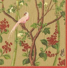 FESTIVE BIRD cream Christmas Paper Table Lunch Napkins 33cm sq 20 in pack