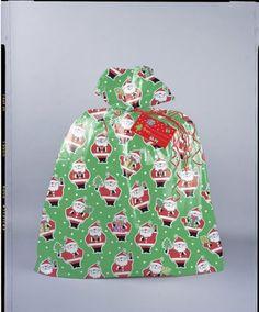 Jumbo Plastic Santa Christmas Gift Bag
