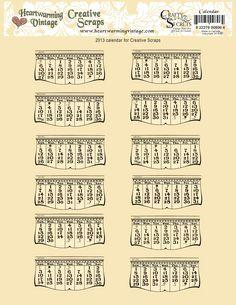 Crafty Secrets  2013 Free Printable Calendar!