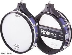 Roland PD-120 Purple (Blue) Dual Zone V Drum Electronic Mesh Trigger Pad