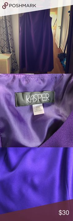 Kasper Woman size 20 Purple Dress This dress matches perfectly to the size 22 jacket I have listed! Never worn. Beautiful alone or with the matching jacket! Kasper Dresses