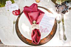 crimson fall wedding | 35 Gorgeous Cranberry Red Autumn Wedding Ideas » Photo 30