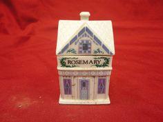 Lenox Spice Village Victorian House Rosemary Jar Porcelain 1989 Free Shipping | eBay