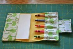 Crayon Art Portfolio...I need to learn to sew...this would be great for the little ones in the car, at restaurants, church, etc.