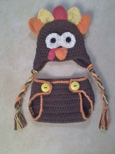 TurkeyHat and Diaper cover set custom sized  by megscutekidshop, $32.00