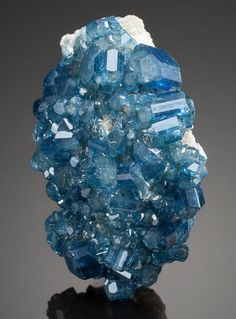 love this color APATITE. Alto Da Cabeca Mine, Parelhas, Rio Grande do Norte, Brazil. 2.56 x 1.75 Inches