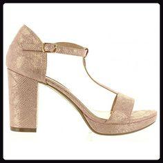 Sandalen für Damen XTI 30559 SERPIENTE NUDE Schuhgröße 38 - Sandalen für frauen (*Partner-Link)