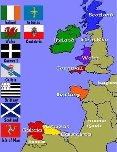 Map Of The Celtic Nations Of Europe.
