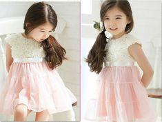 2014 new Summer girls dress retail baby Chiffon Flowers tutu princess dress 2 8 years hot sale children dress C082 free shipping-in Dresses ...
