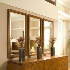 decoração com espelhos iguais