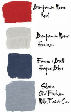 red white and blue color palette