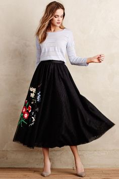 Floristic Tulle Skirt #anthrofave