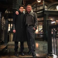 """Sean Pertwee on Instagram: """"This was taken post our last ever scene as the Dynamic Dysfunctional/Functioning Duo. For 5 years I have pretended to be this mans mentor.…"""" Gotham Movie, Gotham Bruce, Gotham Show, Sean Pertwee, Michael Caine Batman, Gotham Girls, Riddler, Christian Bale, Nightwing"""