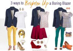 Brighten up a Boring Blazer #Fashion #style