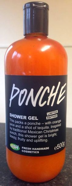 "Ponche Shower Gel: ""This packs a ponche - with orange juice and a shot of tequila. Inspired by traditional Mexican Christmas punch, this shower gel is bright, boozy, fruity and uplifting"""