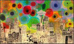 Collaborative Elementary art project - Studio Kids - Children's Art Classes in Ballard, Seattle: Kids Art Auction Projects (updated School Auction Projects, Class Art Projects, Collaborative Art Projects, Classroom Art Projects, Art Classroom, Auction Ideas, Children Art Projects, Welding Projects, Ecole Art