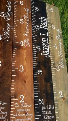 Creative DIY Ideas: Custom Growth Chart, Distressed Wood Growth Chart,...