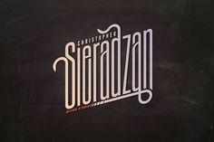 Sieradzan by Christopher Sieradzan, via Behance