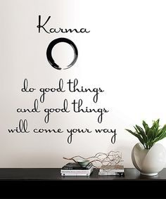 Another great find on #zulily! Karma Wall Quote Decal Set by Brewster Home Fashions #zulilyfinds