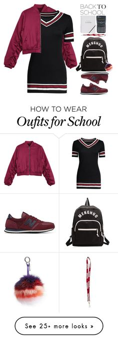 """""""Go Back-to-School Shopping!"""" by beebeely-look on Polyvore featuring New Balance, Fendi, BackToSchool, backpacks, bomberjackets, back2school and zaful"""
