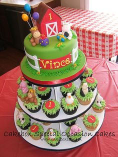 Vince's Farm Cupcake Tower | Flickr - Photo Sharing!