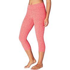 Beyond Yoga Women's Spacedye Capri Legging - Large - Sunset Rose / Coral Reef Spacedye
