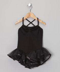 Look at this Black Ballerina Tutu Leotard - Toddler & Girls on #zulily today!