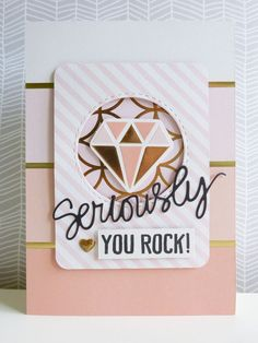 Seriously, you rock card for Hey Little Magpie using My Mind's Eye Fancy That collection