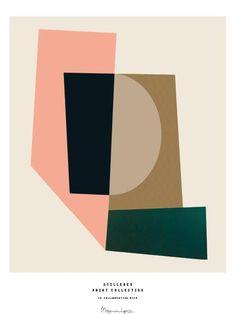 """Puzzle"", paper collage by the Danish artist Berit Mogensen Lopez made for Stilleben Print Collection. The geometric shapes create a balance despite the asymmetry. Art Design, Textile Design, Graphic Design, Illustration Arte, Inspiration Artistique, Bathroom Wall Art, White Bathroom, Color Stories, Geometric Art"