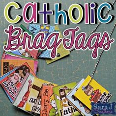 Brag tags are a great way to reward your student for positive behavior in the… Catholic Kids, Catholic School, Catholic Prayers, Positive Behavior, Positive Reinforcement, Back To School Necklaces, Ccd Activities, Brag Tags, Good Prayers