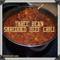 three bean shredded beef chili three bean shredded beef chili ...